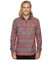 Roark Nordsman Flannel Long Sleeve Shirt Heather Grey Men's Clothing Gray