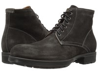 Aquatalia By Marvin K Harvey Charcoal Waxy Suede Men's Shoes Brown