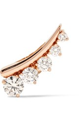 Jemma Wynne 18 Karat Rose God Diamond Ear Cuff Rose Gold
