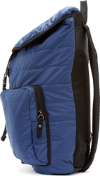 Moncler Navy Nylon Quilted Backpack