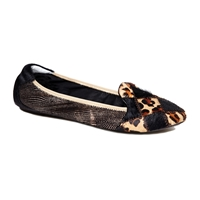 Farringdon Leather Foldable Ballerina Brown