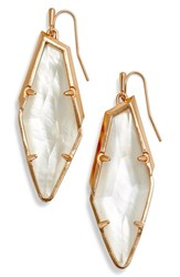 Kendra Scott Women's Drop Earrings Ivory Mop Rose Gold
