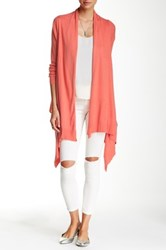 In Cashmere Silk Blend Wrap Cardigan Pink