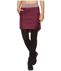 Mountain Hardwear Trekkin Insulated Knee Skirt Marionberry Women's Skirt Red