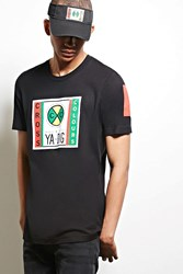 Forever 21 Cross Colours Dig Graphic Tee Black