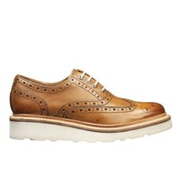Grenson Women's Emily V Brogues Tan
