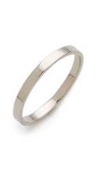 Blanca Monros Gomez Flat Band Ring White Gold