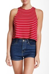 Mimi Chica Stripe Knit Tank Red