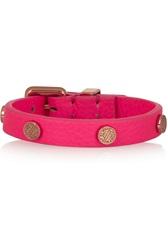 Marc By Marc Jacobs Studded Neon Leather Bracelet