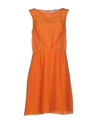 Max And Co. Dresses Short Dresses Women Orange