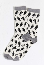 Urban Outfitters Bad Kitty Sock White