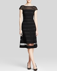 Adrianna Papell Dress Short Sleeve Chiffon Band Fit And Flare