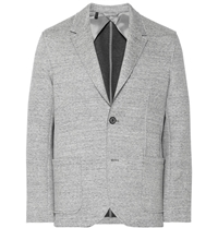 Lanvin Grey Bonded Cotton Blend Jersey Blazer Gray