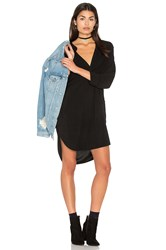 Michael Stars 3 4 Sleeve Split Neck Tunic Black