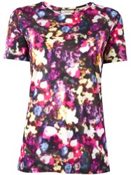 Nina Ricci Blurred Floral Print T Shirt Pink Purple