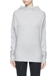 Norma Kamali 'All In One Mini' French Terry Top Grey