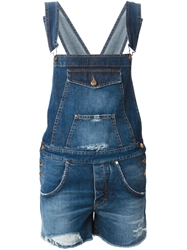 People Denim Short Dungaree Blue