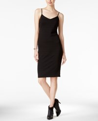 Bar Iii Ribbed Bodycon Slip Dress Only At Macy's Deep Black