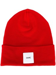 Oamc Logo Patch Beanie Red