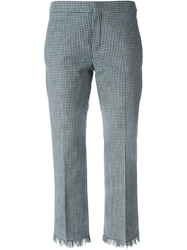 Chloe Chloe Gingham Check Trousers Blue