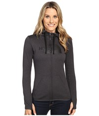 The North Face Fave Half Dome Full Zip Hoodie Tnf Dark Grey Heather Tnf Black Women's Sweatshirt