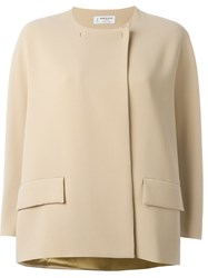 Alberto Biani Boxy Jacket Nude And Neutrals