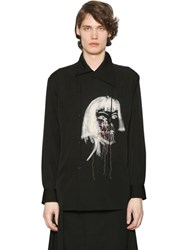 Yohji Yamamoto Embroidery And Paint Wool Gabardine Shirt