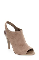 Bcbgeneration Women's 'Remmy' Slingback Sandal Taupe Faux Suede