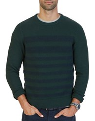 Nautica Breton Striped Textured Sweater Kelp Seas
