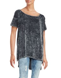 Free People Velvet Hi Lo Top Black