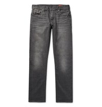 Jean Shop Mick Slim Fit Distressed Selvedge Denim Jeans Gray