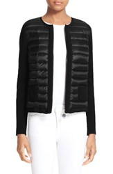 Moncler Women's Maglia Quilted Down Front Tricot Cardigan