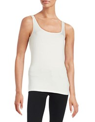 Lord And Taylor Petite Iconic Slim Fit Tank Ivory
