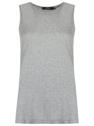 Andrea Marques Side Slit Tank Top Grey