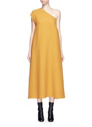Tome One Shoulder Crepe Dress Yellow