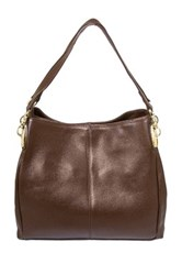 Erica Anenberg Gramercy Leather Hobo Bag Brown