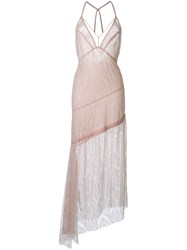Manning Cartell Lace Overlay Asymmetric Dress Pink Purple