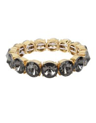 Kenneth Cole Faceted Stone Stretch Bracelet Black