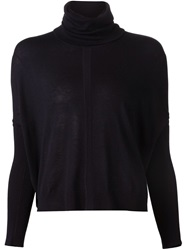 Yigal Azrouel Turtle Neck Sweater Blue