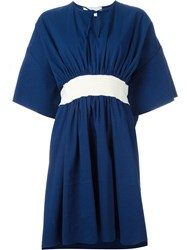 Cedric Charlier Flared Dress Blue