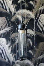 Long Cage Ceiling Light Including Bulb