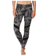 Smartwool Phd Printed Tight Charcoal Black Women's Casual Pants
