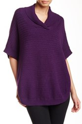 Olivia M Shawl Collar Poncho Purple