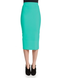 Roland Mouret Capsule Collection Galaxy Wool Pencil Skirt Peppermint Green
