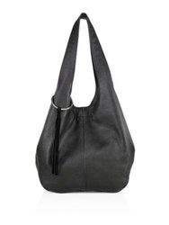 Elizabeth And James Finley Leather Shopper Dove Grey Black