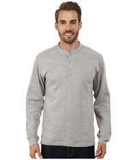 Mountain Khakis Trapper Henley Shirt Heather Grey Men's Long Sleeve Pullover Gray