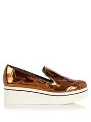 Stella Mccartney Binx Flatform Loafers Gold