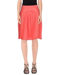 Class Roberto Cavalli Skirts Knee Length Skirts Women Coral