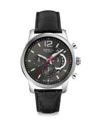 Breil Milano Stainless Steel Chronograph Watch Silver Black