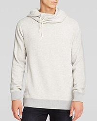 Scotch And Soda Funnel Neck Pullover Hoodie Grey